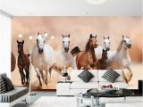 Equestrian Wall Mural Modern 3d Horse Wallpaper Mural Home Decor Wall Papers Living
