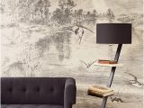 Etched Arcadia Wall Mural Hirundo Cream Wall Mural Tree House In 2019