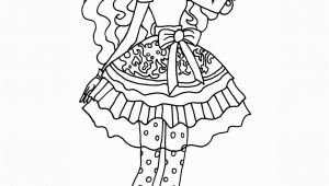 Ever after High Coloring Pages Madeline Hatter Ever after High Madeline Hatter Coloring Page
