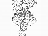 Ever after High Coloring Pages to Print Ever after High Madeline Hatter Coloring Page