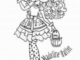 Ever after High Madeline Hatter Coloring Pages Kids N Fun