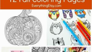 Everything Etsy Coloring Pages 12 Free Fall Coloring Pages for Adults Crafts Pinterest