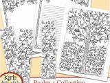 Everything Etsy Coloring Pages Psalm 1 Be Like A Tree Bible Journaling Color Your Own