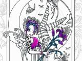 Everything Etsy Coloring Pages Set 8 Printed Coloring Pages Big Eyed Fairy Angel Art