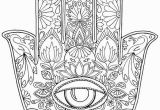 "Evil Eye Coloring Pages Hand Drawn Adult Coloring Page Print ""hamsa Eye"""