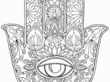 """Evil Eye Coloring Pages Hand Drawn Adult Coloring Page Print """"hamsa Eye"""""""