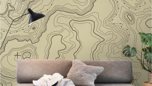 Examples Of Wall Murals topographical Map Wall Mural Wallpaper Maps