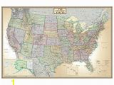 Executive World Map Wall Mural 24×36 United States Usa Us Executive Wall Map Poster Mural