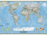 Executive World Map Wall Mural Buy World Classic Mural by National Geographic Maps