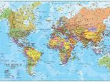 Executive World Map Wall Mural Free Hd Political World Map Poster Wallpapers Download