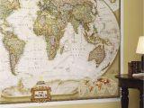 Executive World Map Wall Mural National Geographic World Map Wall Mural Maps National Geographic
