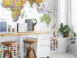 Executive World Map Wall Mural World White Flags In 2019 Dream House
