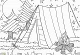 Explorers Coloring Pages Camping Coloring Page for the Kids Camp is Ing