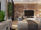 Exposed Brick Wall Mural Living Rooms with Exposed Brick Walls