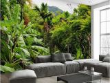 Extra Large Wall Murals Wallpaper Retro Tropical Rain forest Coconut Tree 3d Wall