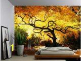 Fabric Mural Wall Art Blossom Tree Of Life Wall Mural Self Adhesive Vinyl