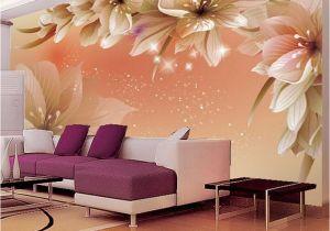 Fabric Murals for Walls Custom 3d Wallpaper Modern Flower Wall Mural Wall Paper Living