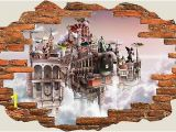 Fairy Castle Wall Mural Behangrollen 3d Hole In Wall Children Fairytale Enchanted