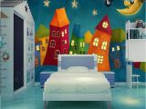 Fairy Castle Wall Mural Custom Mural Wallpaper for Kid S Room Cartoon Castle ㎡ In
