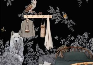 Fairy forest Wall Murals Dark Enchanted forest Wall Mural Vintage Wild Animals Wallpaper