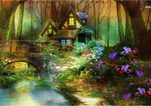 Fairy forest Wall Murals Enchanted forest Wallpaper