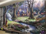 Fairy Garden Mural Customize 3d Photo Wallpapers Walls Fairy Landscape Oil Painting