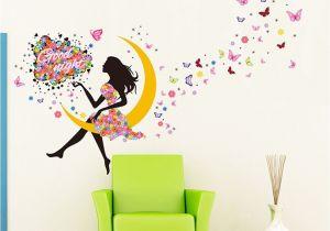 Fairy Princess Wall Mural Amazon Yufeng Removable Diy Pvc Wall Sticker Decor
