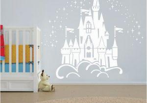 Fairy Princess Wall Mural Floating Disney Fairy Castle Wall Sticker Vinyl Decal Wall
