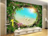 Fairy Wall Murals Uk 2019 New Fantasy Fairytale forest Garden Flower Vine Grass Tv Background Wall High Wallpaper