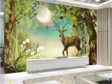Fairytale Wall Murals Beautiful Scenery Wallpapers Millennial forest In Fairy Tale World