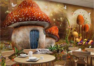 Fairytale Wall Murals Beibehang Custom Wallpaper Fairy Tale Mushroom House Children Room