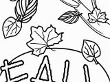 Fall Leaves Coloring Pages for Kindergarten Fall Coloring Books