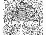 Fall Leaves Coloring Pages Printable Umbrella and Leaves Coloring Page • Free Printable Ebook
