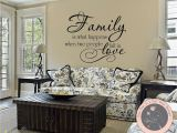 Family Room Wall Murals Wall Decals Quote Family is What Happens by