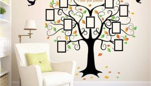 Family Tree Murals for Walls Family Tree Wall Decal 9 Frames Peel and Stick