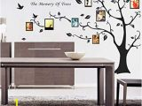 Family Tree Wall Mural Decals Photo Frame Family Tree Vinyl Wall Art Decal Sticker In Black 160cm H X 200cm W