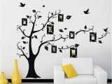 Family Tree Wall Mural Decals Removable Black Frame Tree Wall Stickers Family forever Memory Tree Wall Decor Decorative Adesivo De Parede Decor Tree Wall Clings Tree Wall