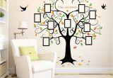 Family Tree Wall Mural Ideas Family Tree Wall Decal 9 Frames Peel