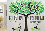 Family Tree Wall Mural Stencils Family Tree Wall Decals 3d Diy Frame Acrylic Wall Stickers Mural for Living Room sofa Tv Art Wall Background Lovely Tree Green