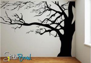 Family Tree Wall Mural Stencils Vinyl Wall Decal Sticker Spooky Tree Ac122