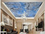Famous Ceiling Murals 3d Ceiling Murals Wallpaper Winter Sky Ice Tree Snowflakes Zenith