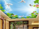 Famous Ceiling Murals 3d Room Wallpaper Landscape Sky Ceiling Murals 3d Wall Murals