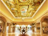 Famous Ceiling Murals Custom 3d Wall Mural Wallpaper European Style Hotel Lobby Living