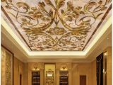 Famous Ceiling Murals European Marble Ceiling 3d Wallpaper Modern for Living Room Murals