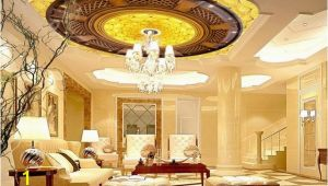 Famous Ceiling Murals High End 3d Golden Flowers Zenith Ceiling Home Decoration Cloud