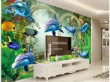 Fantasy Art Wall Murals 3d Wallpaper Custom Murals Wallpapers 3d Fantasy Underwater World Dolphin Mural Beautiful Tv Background Wall Decoration Painting Wallpaper