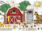 Farm Animal Wall Murals Farm Barnyard Animals Wall Mural Baby Nursery Kids Room