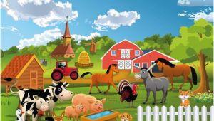 Farm Animal Wall Murals Fototapete Farm Bauernhof 1845 Cm X 50 Cm 7 Tlg Hazelwood