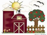 Farm Scene Wall Murals Farm Nursery Decal Girl Wall Art Barn Apple Tree Decor Kids Baby Floral Room Mural