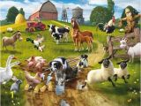 Farm Scene Wall Murals Farmyard Fun Wall Mural